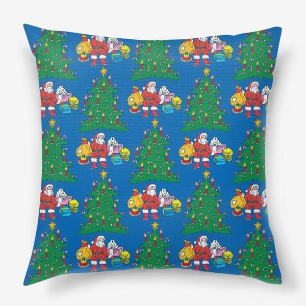 Подушка «Санта и Рождественская Ель»
