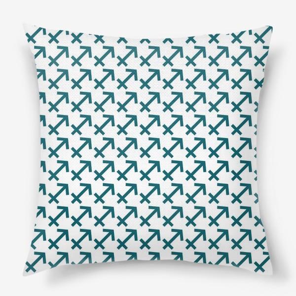 Подушка «Паттерн стрелец»