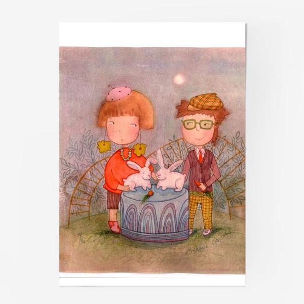 Постер «Лунные кролики»