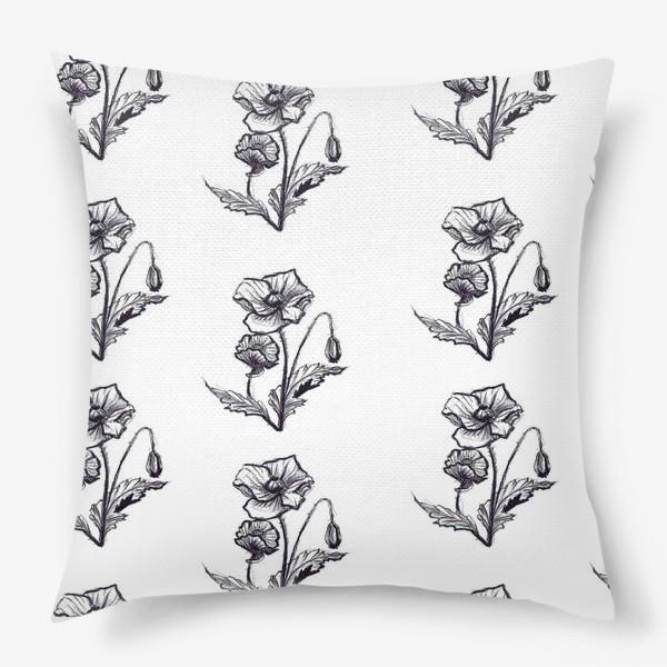 Подушка «мак. текстиль»
