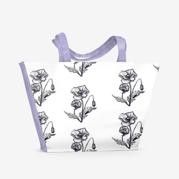 Пляжная сумка «мак. текстиль»