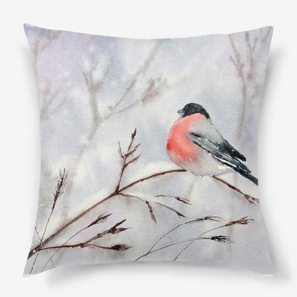 Подушка «Снегирь»