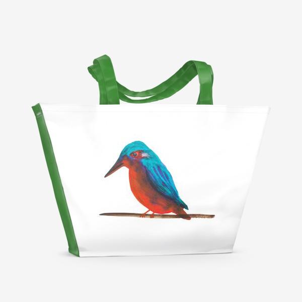 Пляжная сумка «Птица Зимародок»