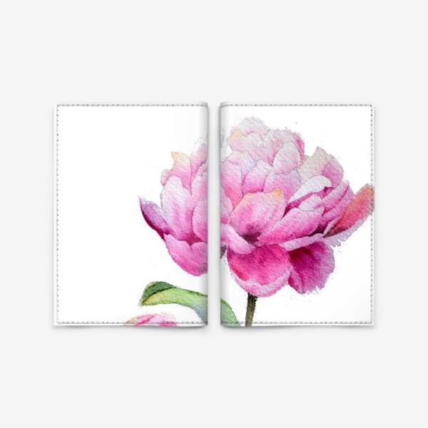 Обложка для паспорта «Акварель Розовые пионы»