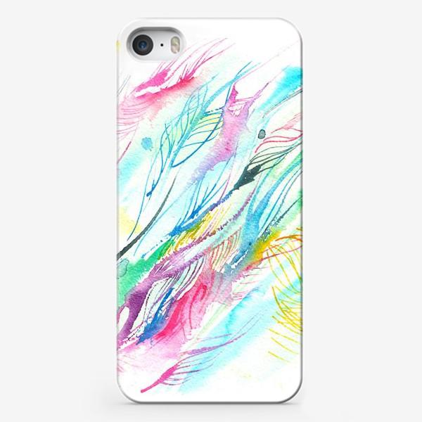 Чехол iPhone «абстрактные акварельные перья»