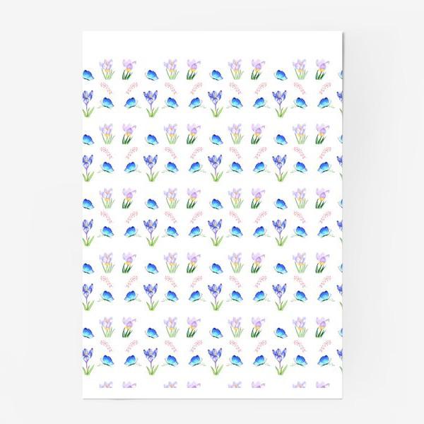 Постер «Весенние крокусы»