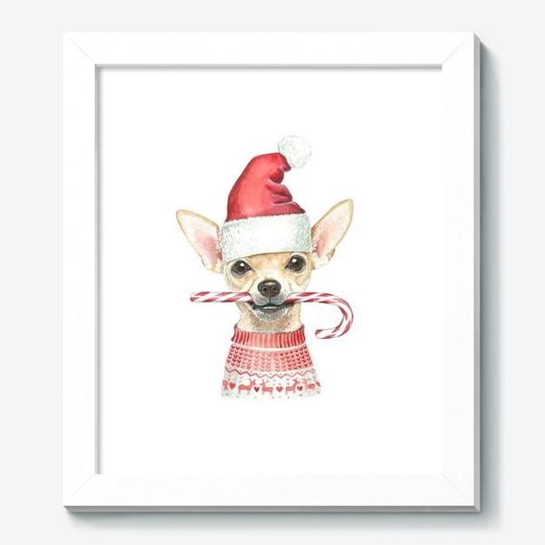Картина «Чихуахуа Новогодний пес»