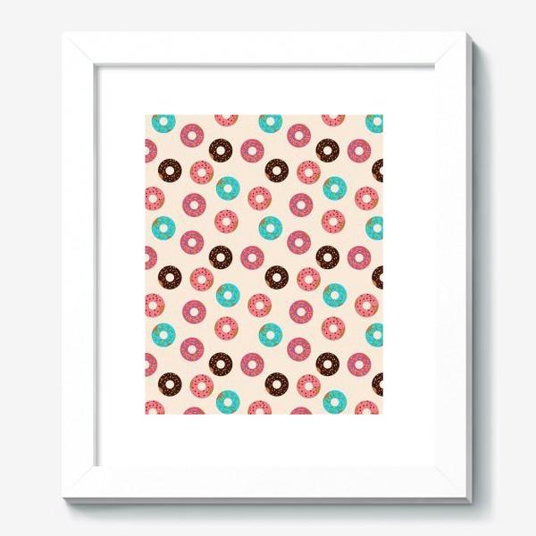 Картина «Пончики на розовом фоне»