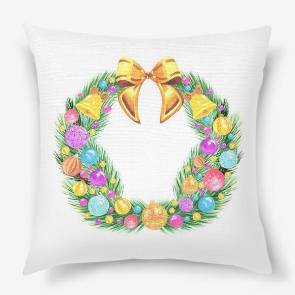 Подушка «Рождественский венок»