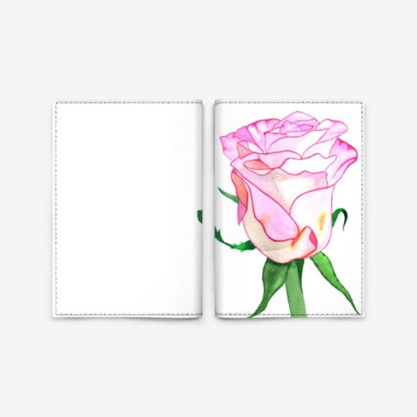 Обложка для паспорта «Роза »