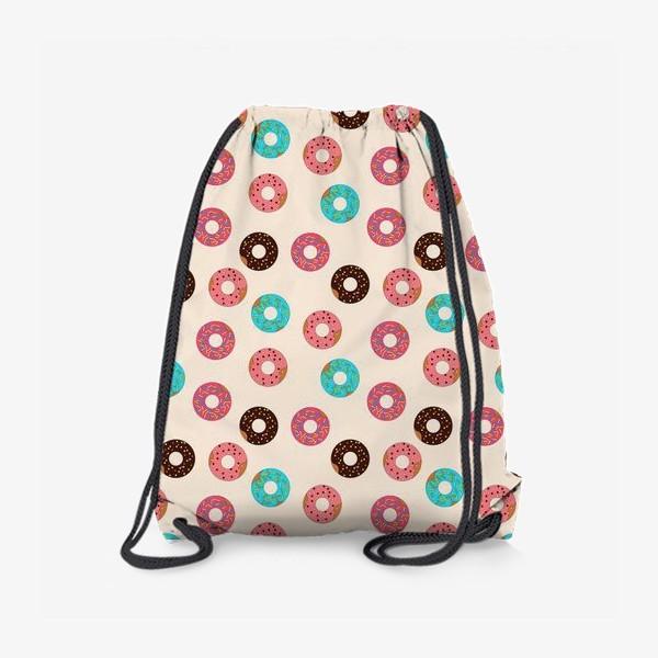 Рюкзак «Пончики на розовом фоне»