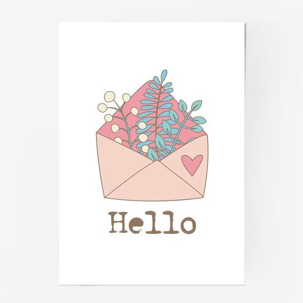 Постер «Конверт с цветами»