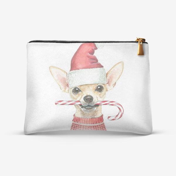 Косметичка «Чихуахуа Новогодний пес»