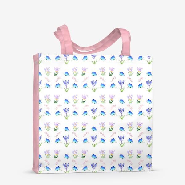 Сумка-шоппер «Весенние крокусы»