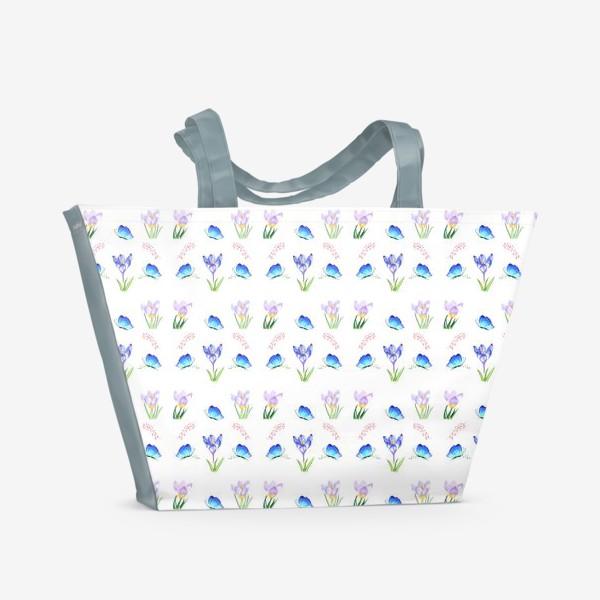 Пляжная сумка «Весенние крокусы»
