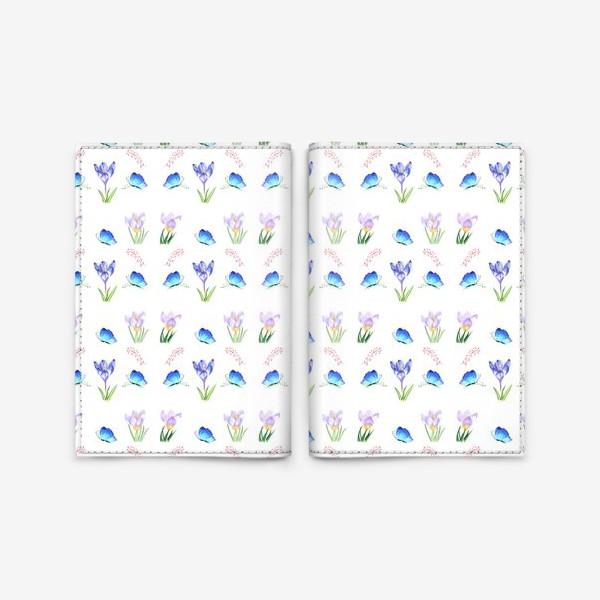 Обложка для паспорта «Весенние крокусы»
