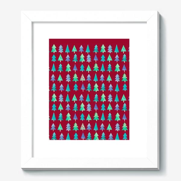 Картина «Ёлки в красном»
