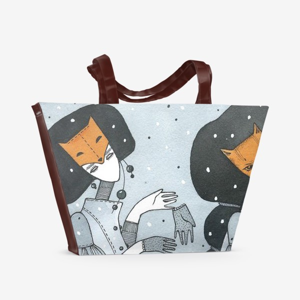 Пляжная сумка «случай в лесу (2)»