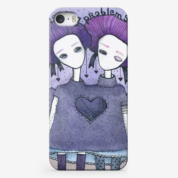 Чехол iPhone «сиреневая (3)»