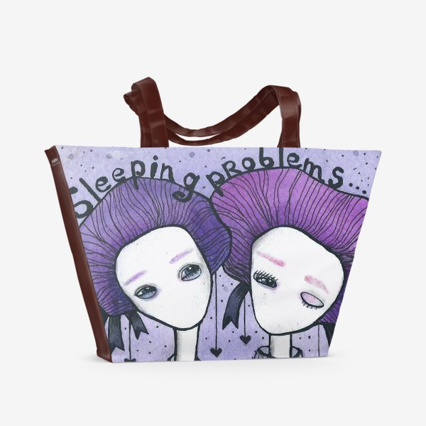Пляжная сумка «сиреневая (3)»