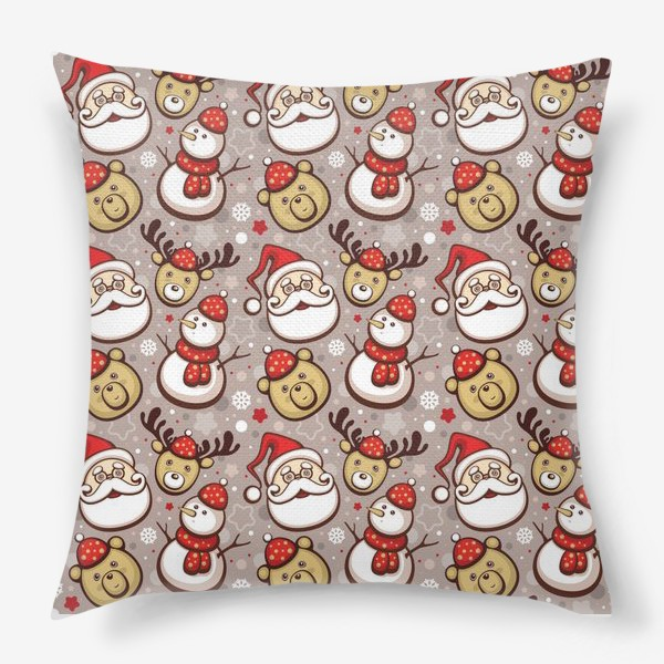 Подушка «Новогодний паттерн»