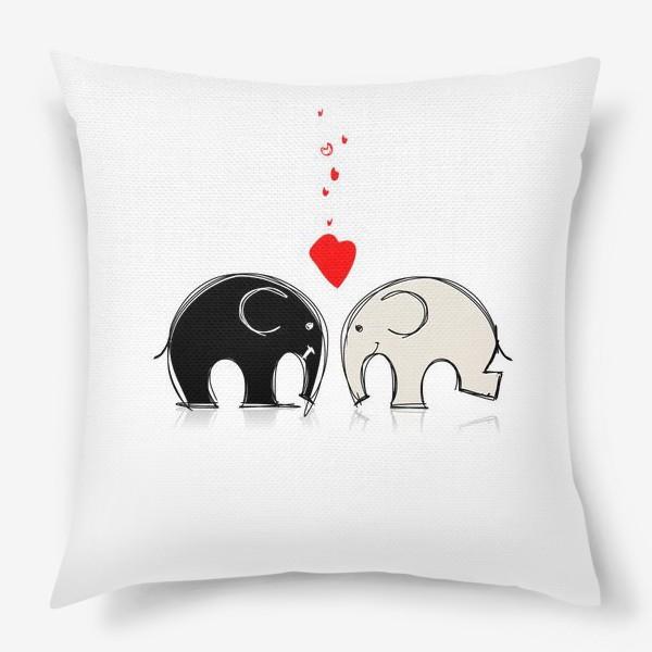 Подушка «Elephants in love»