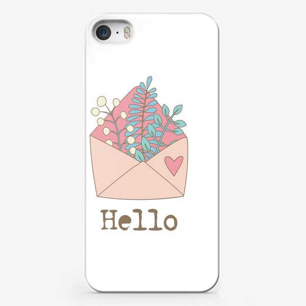 Чехол iPhone «Конверт с цветами»