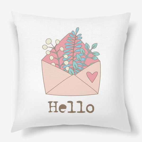 Подушка «Конверт с цветами»