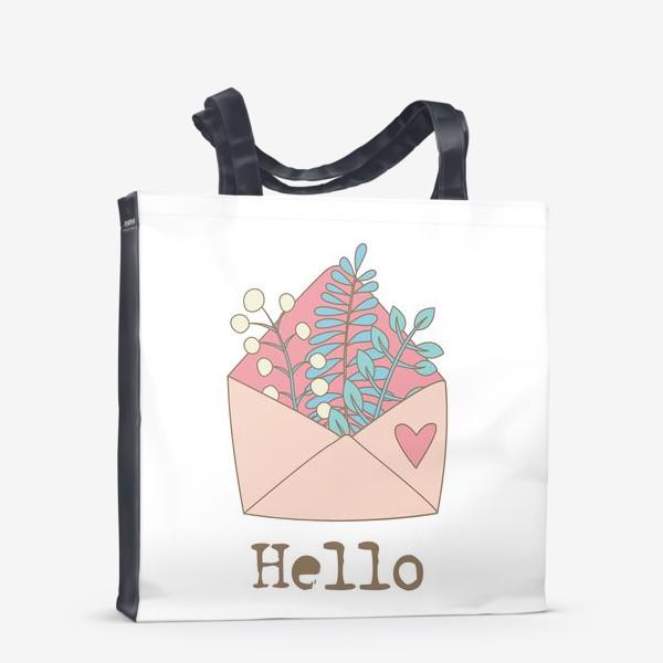 Сумка-шоппер «Конверт с цветами»