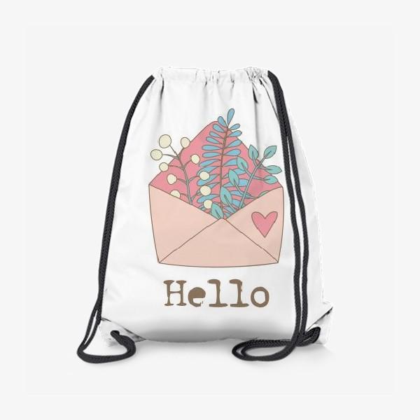 Рюкзак «Конверт с цветами»