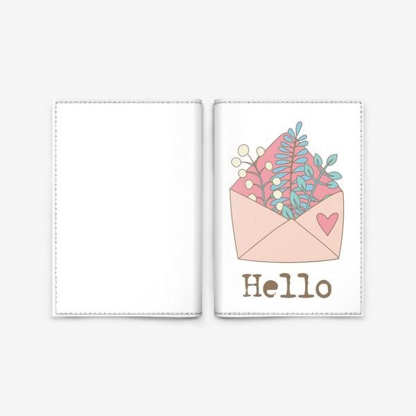 Обложка для паспорта «Конверт с цветами»
