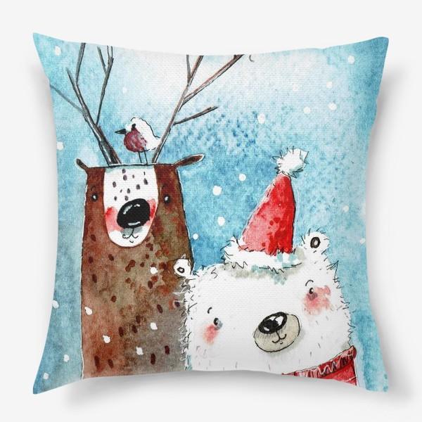 Подушка «Новый год (парочка )»