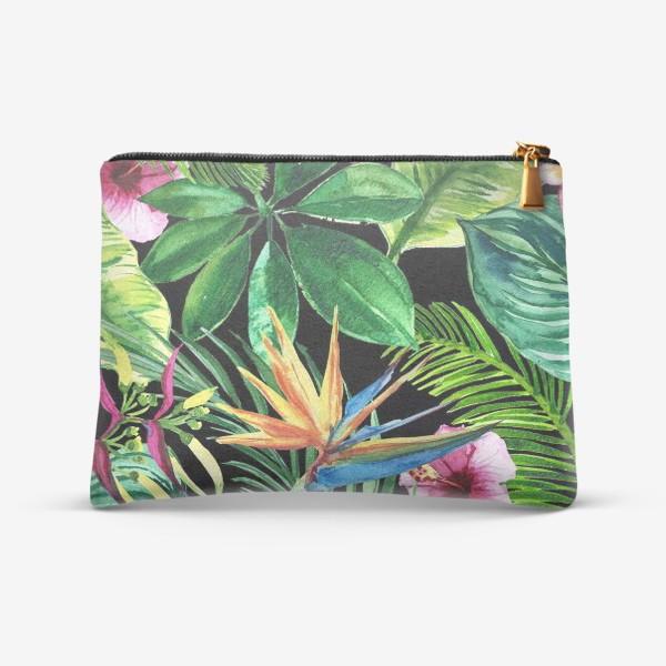 Косметичка «экзотические листья и цветы»