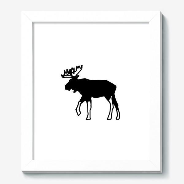 Картина «Лось - символ Скандинавии, символ Аляски»