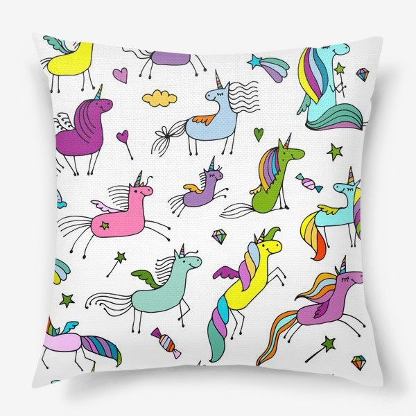 Подушка «Cute unicorns»