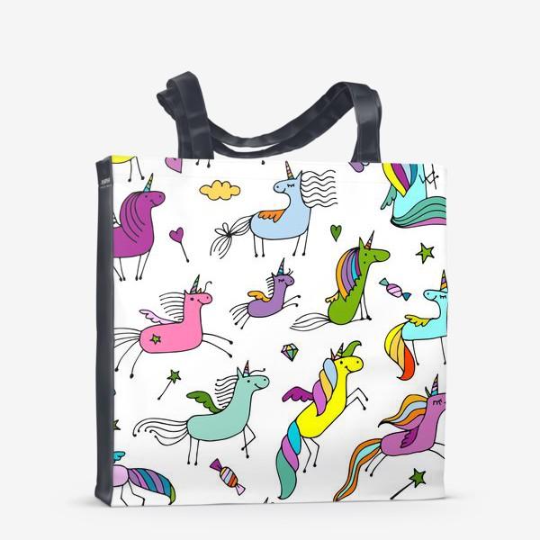 Сумка-шоппер «Cute unicorns»