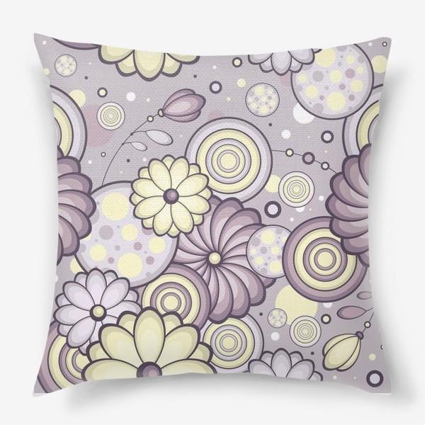 Подушка «Цветы в сумерках»