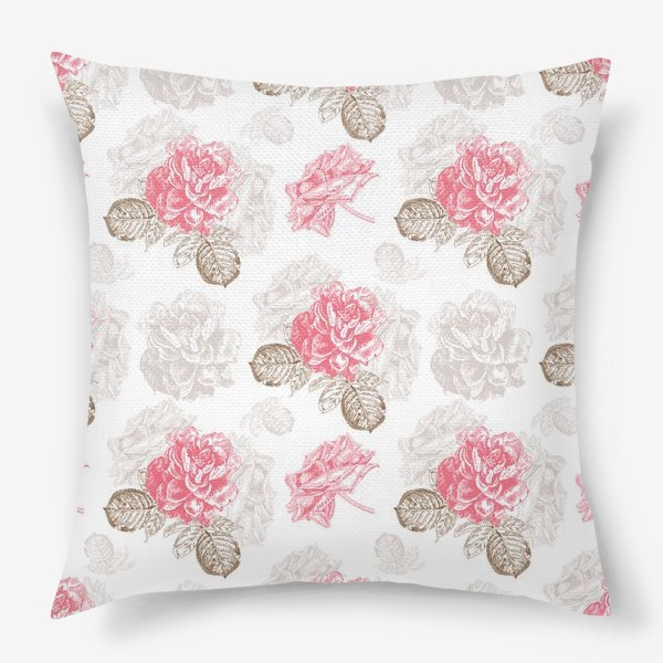 Подушка «Винтажные розы»