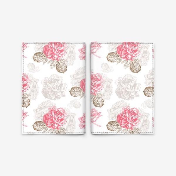 Обложка для паспорта «Винтажные розы»