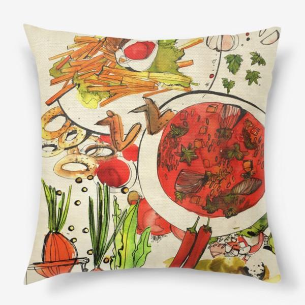 Подушка «Летний обед»