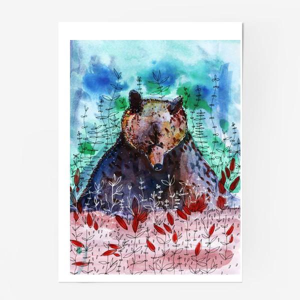 Постер «Добрый медвежонок»