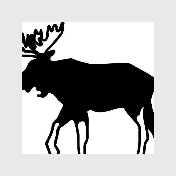 Шторы «Лось - символ Скандинавии, символ Аляски»