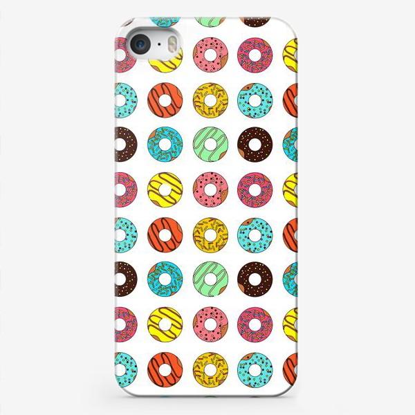 Чехол iPhone «Разноцветные пончики»