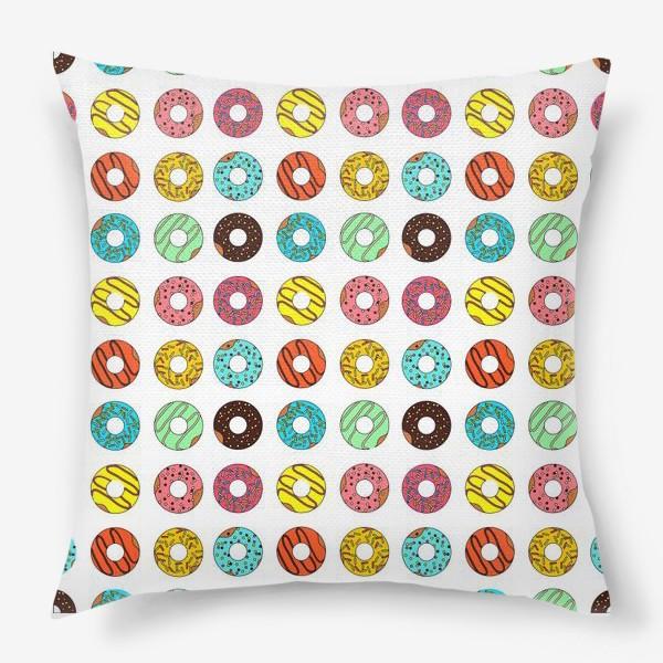 Подушка «Разноцветные пончики»