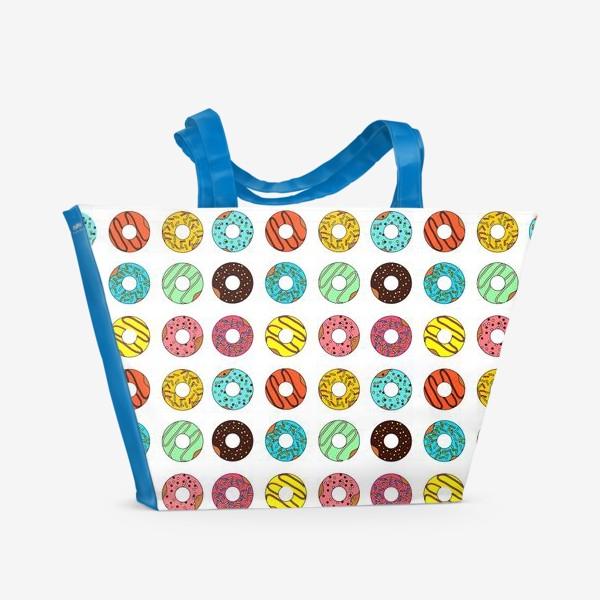 Пляжная сумка «Разноцветные пончики»