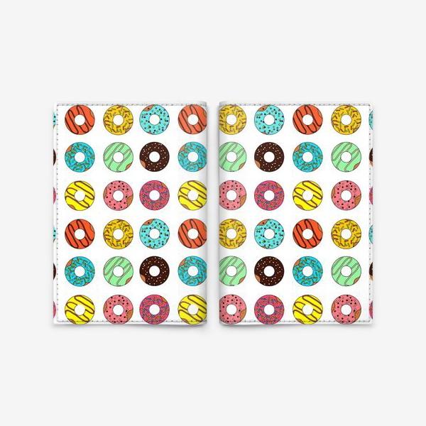 Обложка для паспорта «Разноцветные пончики»