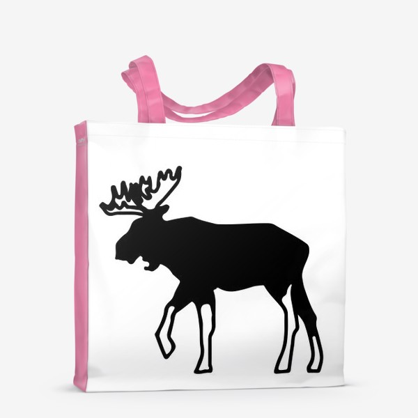 Сумка-шоппер «Лось - символ Скандинавии, символ Аляски»