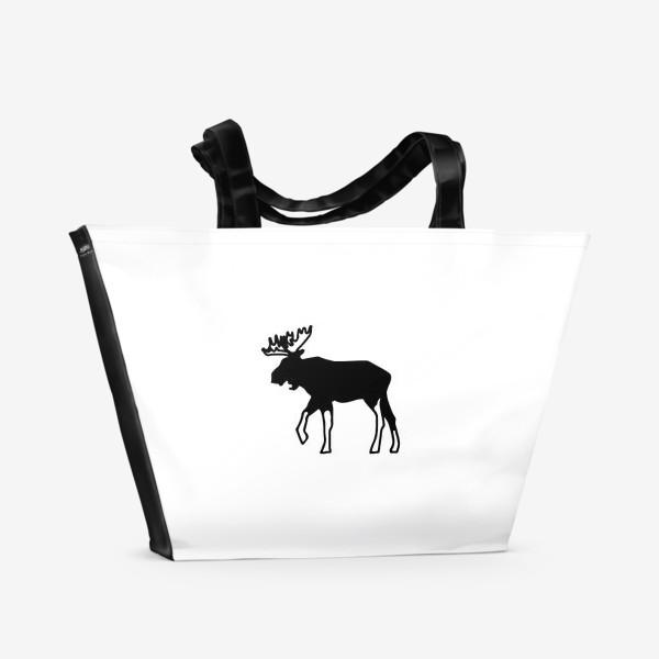Пляжная сумка «Лось - символ Скандинавии, символ Аляски»