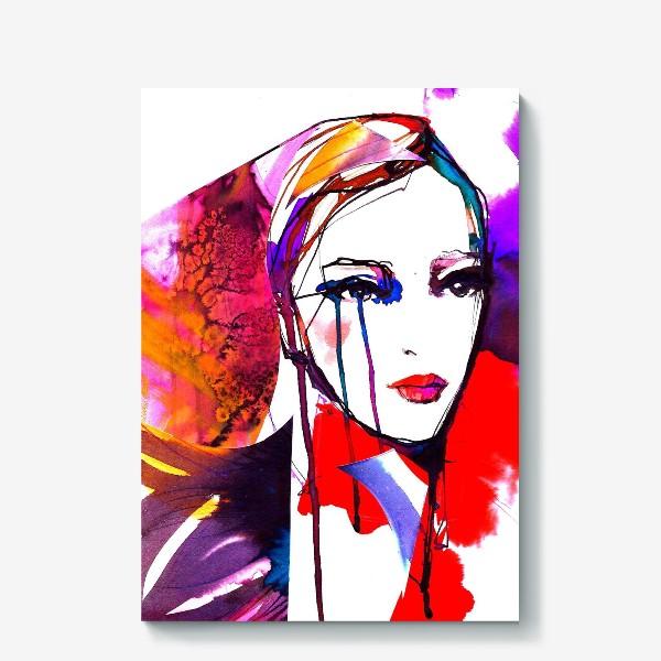 Холст «Девушка в красном)»