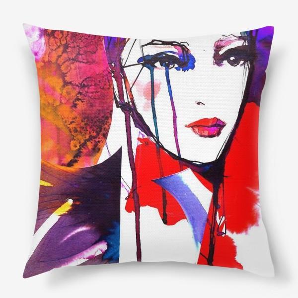 Подушка «Девушка в красном)»